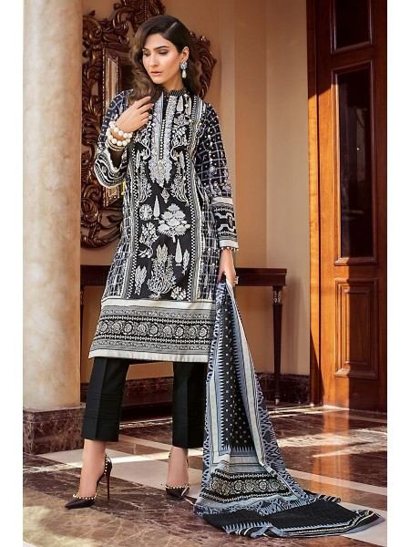 Gul Ahmed Summer Lawn20 3PC Unstitched Embroidered Lawn Suit B-63