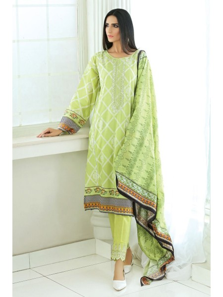 Gul Ahmed Summer Lawn20 3PC Unstitched Embroidered Lawn Suit CL-721 A
