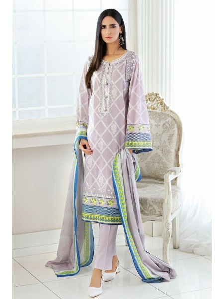 Gul Ahmed Summer Lawn20 3PC Unstitched Embroidered Lawn Suit CL-721 B
