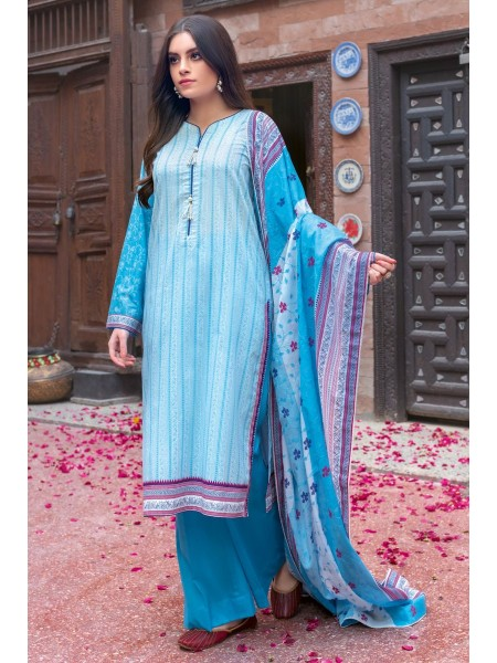 Gul Ahmed Summer Lawn20 3PC Unstitched Embroidered Lawn Suit CL-737