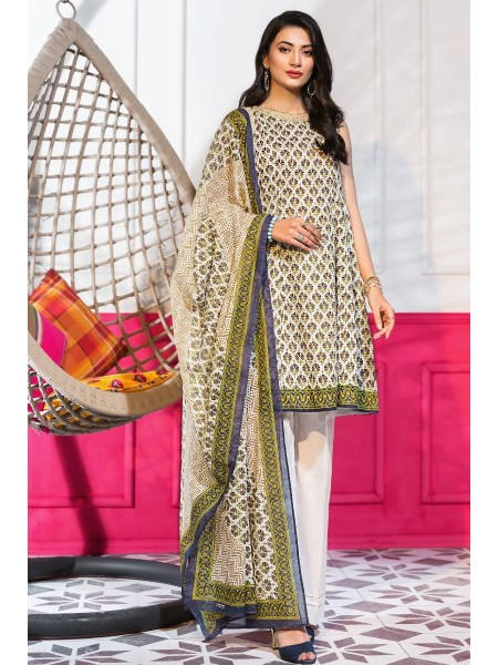 Gul Ahmed Summer Lawn20 3PC Unstitched Embroidered Lawn Suit CL-827 B