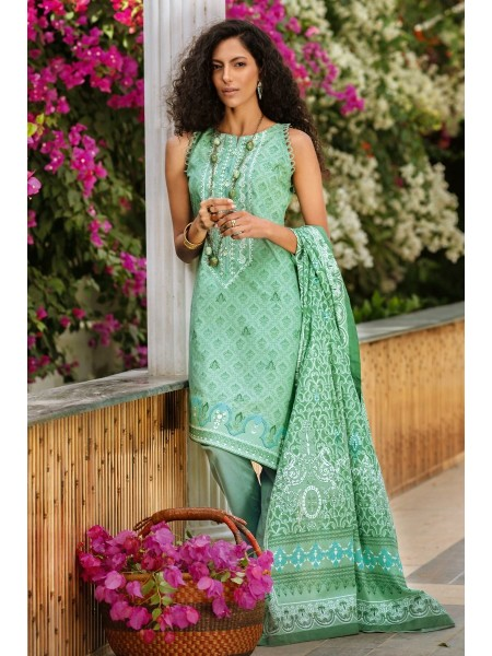 Gul Ahmed Summer Lawn20 3PC Unstitched Embroidered Lawn Suit CL-828 B