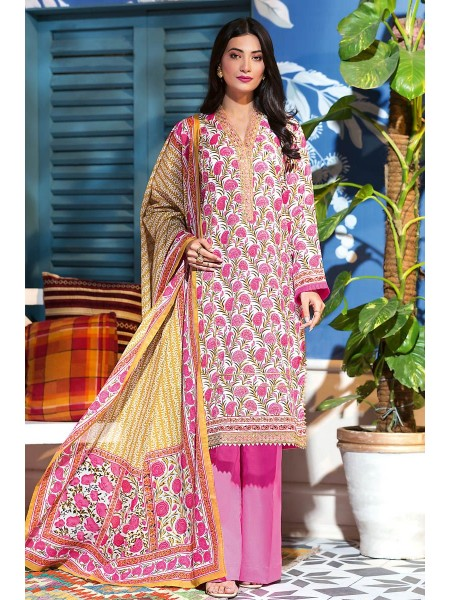 Gul Ahmed Summer Lawn20 3PC Unstitched Embroidered Lawn Suit CL-830 A