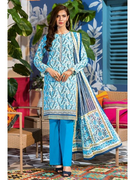Gul Ahmed Summer Lawn20 3PC Unstitched Embroidered Lawn Suit CL-830 B