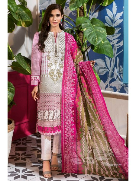 Gul Ahmed Summer Lawn20 3PC Unstitched Embroidered Lawn Suit CL-831 A