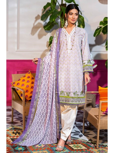 Gul Ahmed Summer Lawn20 3PC Unstitched Embroidered Lawn Suit CL-840 A