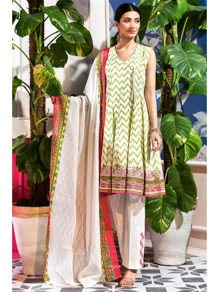 Gul Ahmed Summer Lawn20 3PC Unstitched Embroidered Lawn Suit CL-840 B