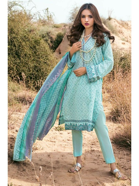 Gul Ahmed Summer Lawn20 3PC Unstitched Embroidered Lawn Suit CL-855 A