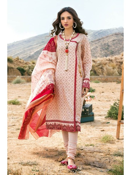 Gul Ahmed Summer Lawn20 3PC Unstitched Embroidered Lawn Suit CL-855 B