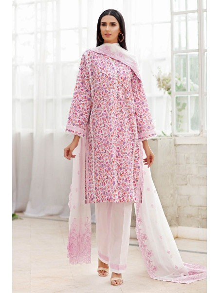 Gul Ahmed Summer Lawn20 3PC Unstitched Embroidered Lawn Suit CL-876