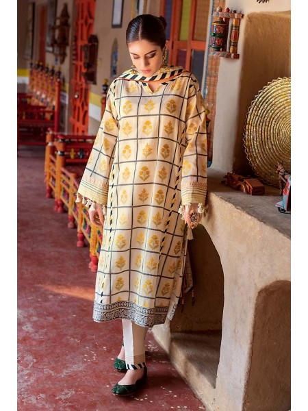 Gul Ahmed Summer Lawn20 3PC Unstitched Embroidered Lawn Suit TR-03