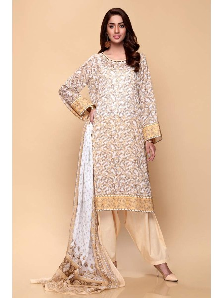 Gul Ahmed Summer Lawn20 3PC Unstitched Lawn Suit CL-650 A