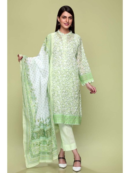 Gul Ahmed Summer Lawn20 3PC Unstitched Lawn Suit CL-650 B
