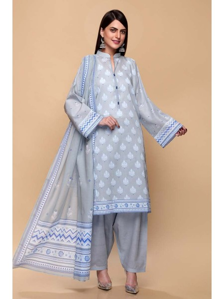 Gul Ahmed Summer Lawn20 3PC Unstitched Lawn Suit CL-663 B