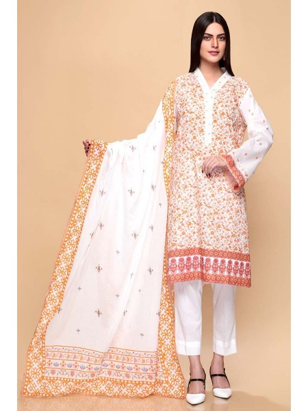 Gul Ahmed Summer Lawn20 3PC Unstitched Lawn Suit CL-665 A