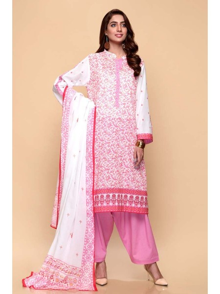Gul Ahmed Summer Lawn20 3PC Unstitched Lawn Suit CL-665 B