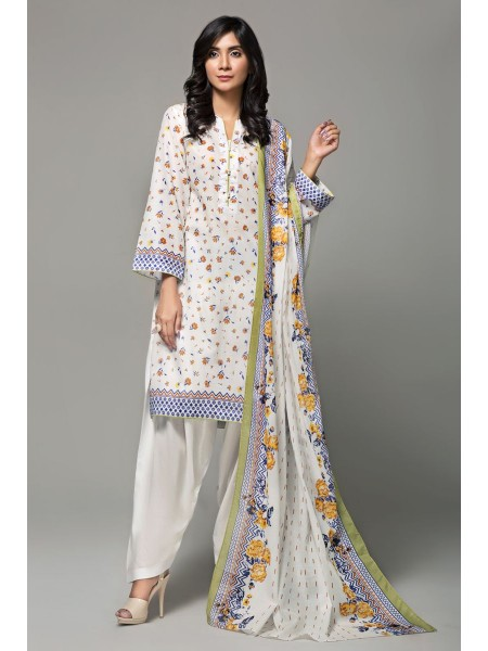 Gul Ahmed Summer Lawn20 3PC Unstitched Lawn Suit CL-666 A