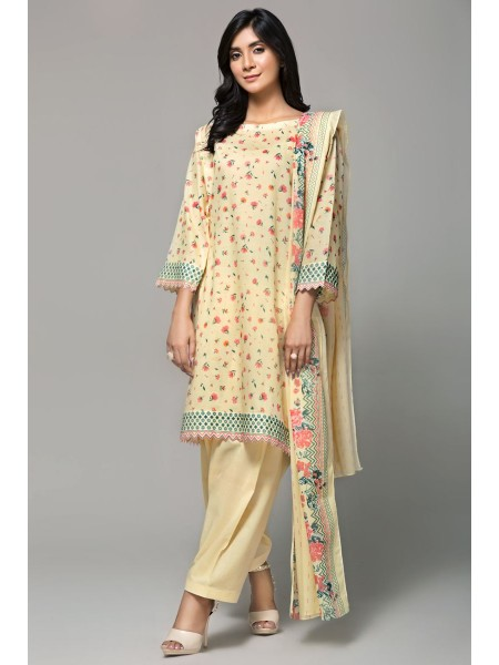 Gul Ahmed Summer Lawn20 3PC Unstitched Lawn Suit CL-666 B