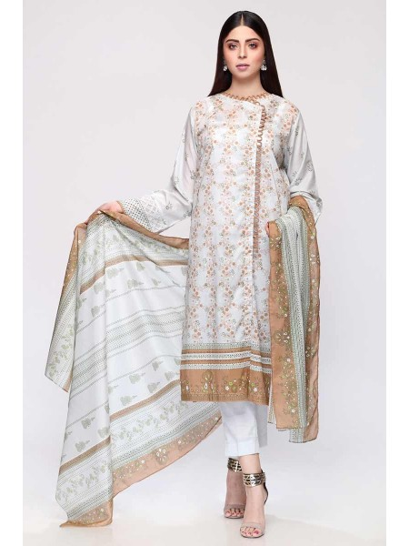 Gul Ahmed Summer Lawn20 3PC Unstitched Lawn Suit CL-702 A