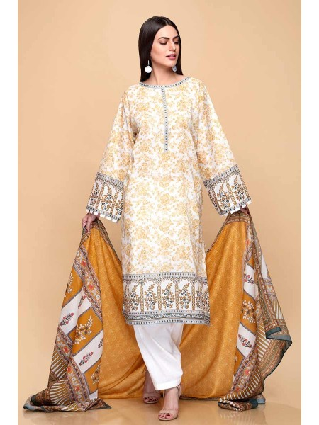 Gul Ahmed Summer Lawn20 3PC Unstitched Lawn Suit CL-704 B