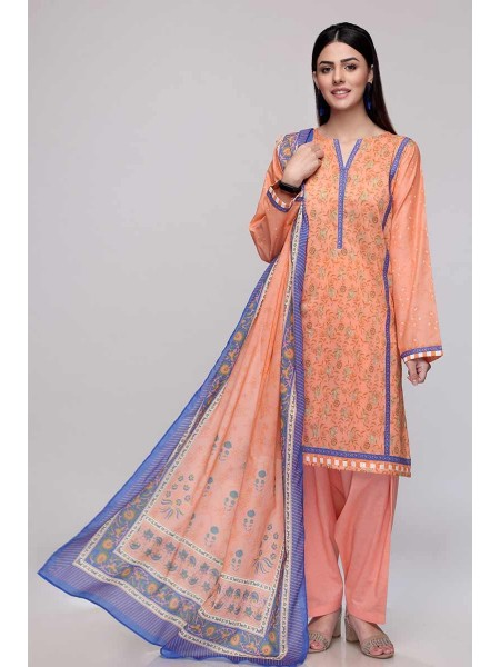 Gul Ahmed Summer Lawn20 3PC Unstitched Lawn Suit CL-705 B