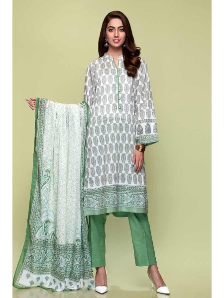 Gul Ahmed Summer Lawn20 3PC Unstitched Lawn Suit CL-707 B