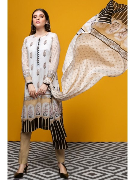 Gul Ahmed Summer Lawn20 3PC Unstitched Lawn Suit CL-718 A