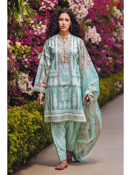 Gul Ahmed Summer Lawn20 3PC Unstitched Lawn Suit CL-800 A