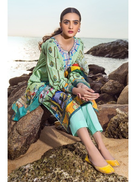 Gul Ahmed Summer Lawn20 3PC Unstitched Lawn Suit CL-818