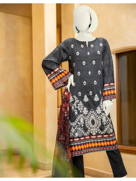 Junaid Jamshed Spring20 Collection JLAWN-S-JDS-20-1018-B Emiliana