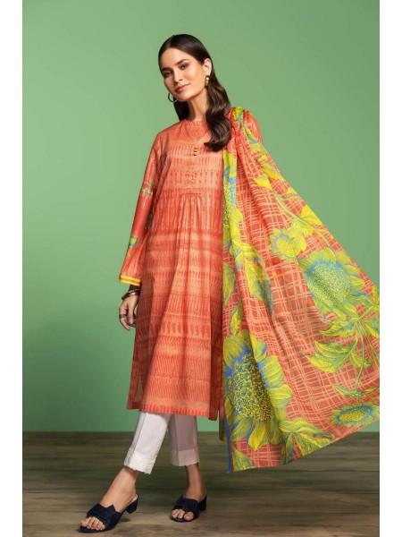 Nishat Linen Spring Summer 20 42001020-Printed Lawn Rib Voil 2PC