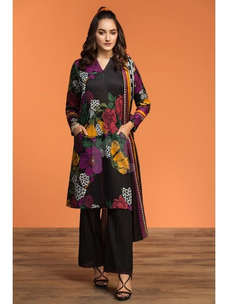 Nishat Linen Spring Summer 20 42001051-Printed Lawn, Cambric Rib Voil 3PC