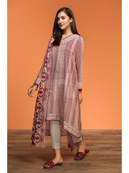 Nishat Linen Spring Summer 20 42001058-Printed Lawn, Cambric Voil 3PC