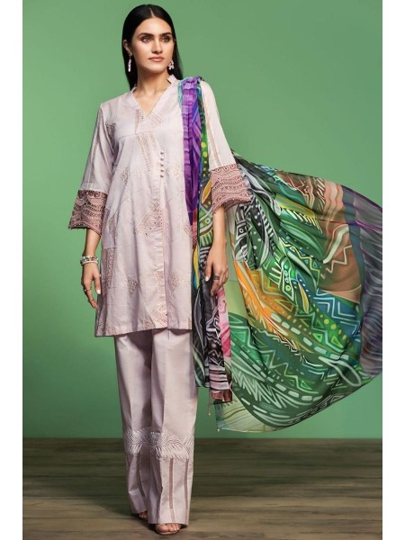 Nishat Linen Spring Summer 20 42001064-Digital Printed Embroidered Lawn, Cambric Chiffon 3PC