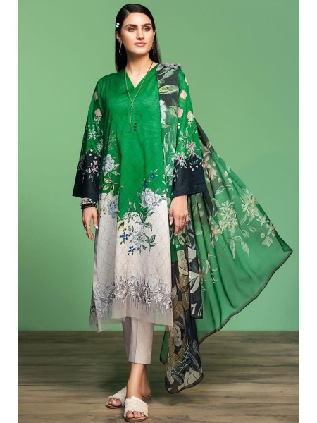 Nishat Linen Spring Summer 20 42001065-Digital Printed Embroidered Lawn, Cambric Chiffon 3PC