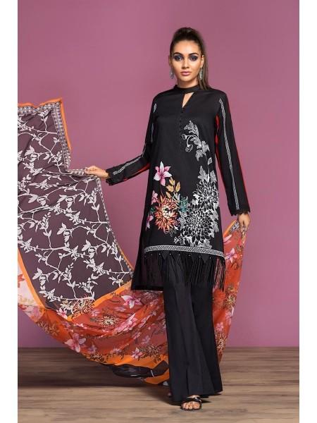 Nishat Linen Spring Summer 20 42001071-Digital Printed Lawn, Cambric Grip Chiffon 3PC