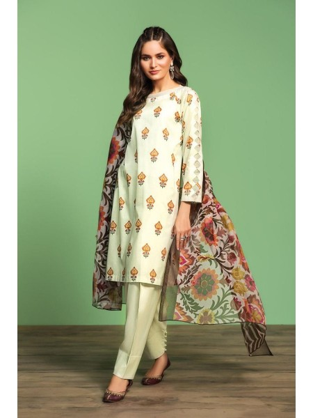 Nishat Linen Spring Summer 20 42001196-Printed Lawn Viscose Net 2PC
