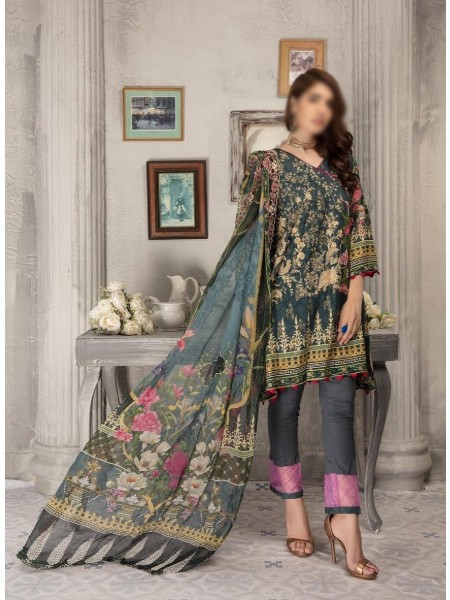 SHAISTA Aafreen Lawn Print Broshia unstitch Embroidered Collection D-A 335