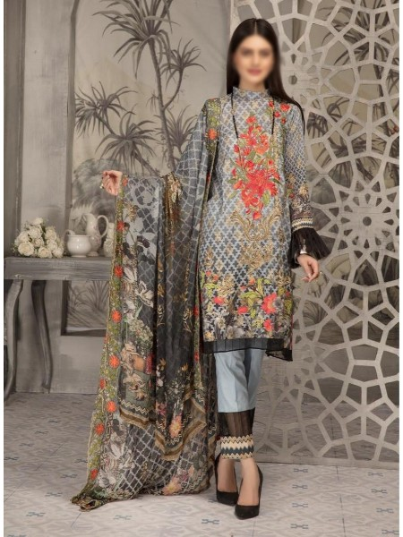 SHAISTA Aafreen Lawn Print Broshia unstitch Embroidered Collection D-A 336