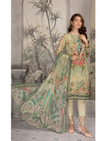 SHAISTA Aafreen Lawn Print Broshia unstitch Embroidered Collection D-A 337