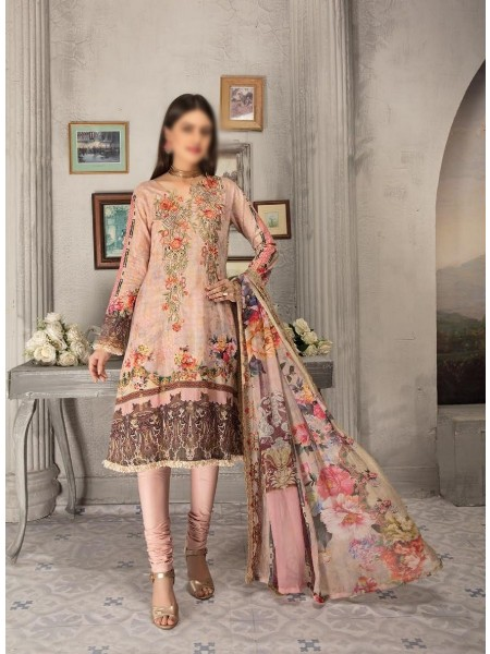 SHAISTA Aafreen Lawn Print Broshia unstitch Embroidered Collection D-A 340