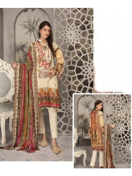 SHAISTA Aafreen Lawn Print Broshia unstitch Embroidered Collection D-A 344