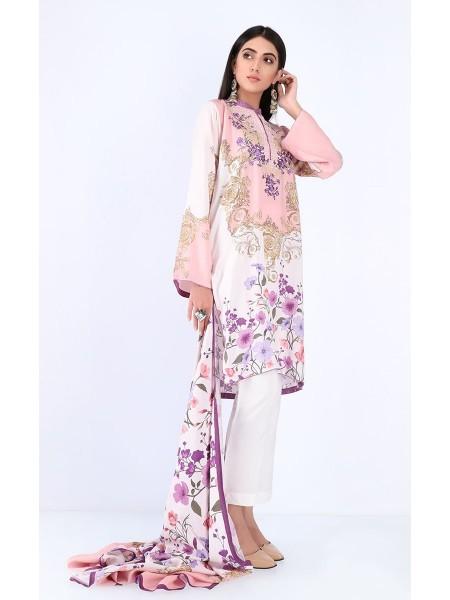 Zellbury Luxury pret Kurta Dupatta - Blossom Pink - Viscose ZWZPE219721-Multi