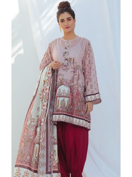 Zellbury Unstitched Spring Collection Shirt Dupatta - Blossom Pink - Lawn Suit ZWUSC220012