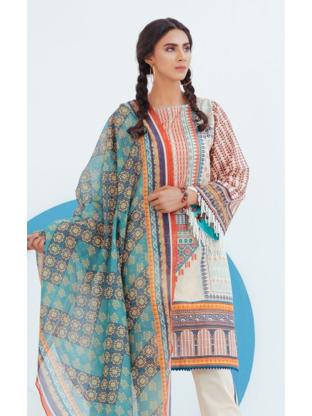 Zellbury Unstitched Spring Collection Shirt Shalwar Dupatta - Storm Pink - Lawn Suit ZWUSCE320067