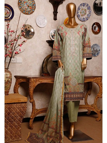 BIN SAEED Lawn Embroidered Stiched Collection 2020 ZBS 036