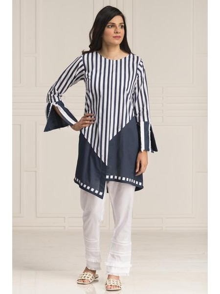 BY THE WAY Summer Collection20 Blue Stripes WRH0761-LRG-BLU