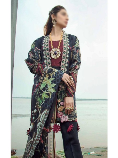 Firdous Grandeur Luxury Un-Stiched Lawn 2020 D-LL - 19525