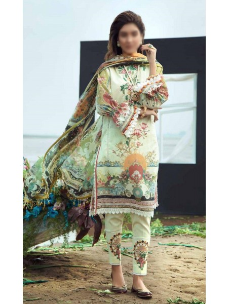 Firdous Grandeur Luxury Un-Stiched Lawn 2020 D-LL - 19527