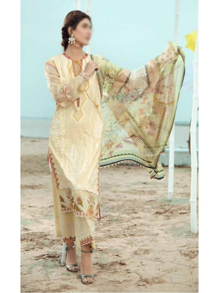 Firdous Grandeur Luxury Un-Stiched Lawn 2020 D-LL - 19539